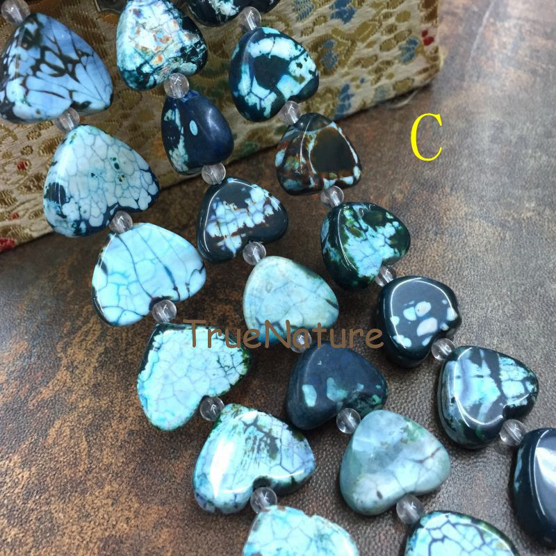 11-12pcsstrand,Blue Dragon Veins Raw Agate Druzy Freeform Slab Loose Beads,Natural Onxy Stone Slice Nugget Pendant Crafts Findings Jewelry