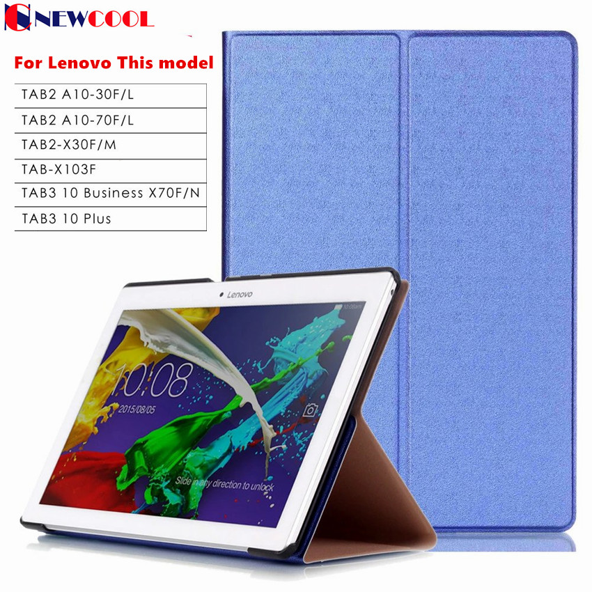 TB3-X70L Tab3 10 Plus/ business X70 Tab-X103f New Flip Cover For Lenovo Tab 2 Tab2 A10-70F A10-30 x30 x30f A10-70c tablet Case case for lenovo tab 4 10 plus protective cover protector leather tab 3 10 business tab 2 a10 70 a10 30 s6000 tablet pu sleeve 10