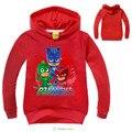 Boy Girls Hooded PJMASKS T-shirt Long Sleeve cotton Baby Children Coats Cartoon Cute Tops tee Spring Autumn Letter Print Fashion