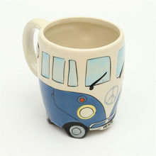 Originalität Keramiktassen Hand Malerei Retro Doppeldecker-bus Becher Kaffee Milch Tee Tasse Wasserflasche Drink Für Freund Geschenk