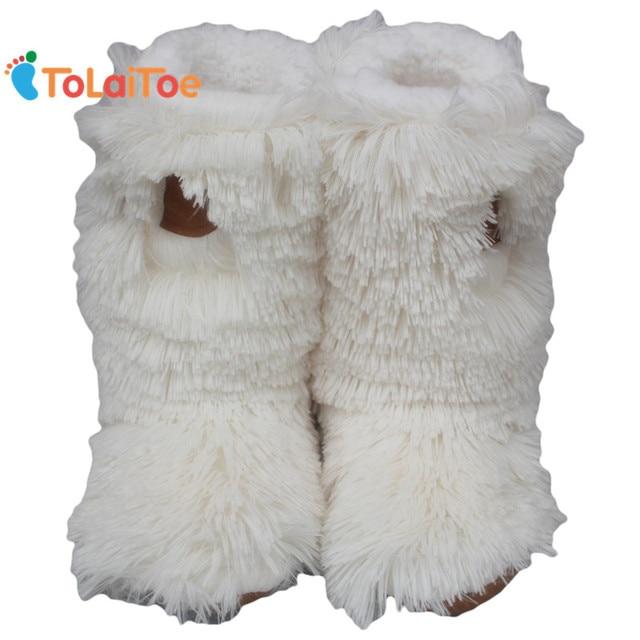 ToLaiToe Super Warm Winter Floor Shoe Long Plush Soft indoor Home Slipper Women House Floor Slipper Deerskin Sole Warmth Slipper