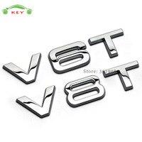 Car Styling Accessories Decor Sticker Auto 3D Decal V6T V8T Logo Emblem Badge For Audi A4L