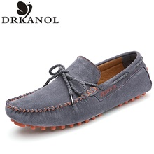 Fashion Autumn Men's Flats High Quality Brand Luxury Genuine Leather Shoes Men Loafers Gommino Driving Shoes Soft Moccasins