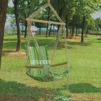Outdoor Garden Beach Patio Yard Swing Hammock Hanging Chair Breathable Thick Cotton Canvas Swing Casual Adult Park Rocking Chair