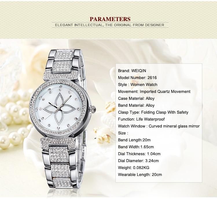 cristal strass senhoras relógio multi-função quartzo senhoras