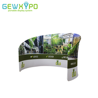 Exhibition Booth Quick Set Up Portable Aluminum Frame With Double Side Printing,Tension Fabric Semi-Circle Banner Display Wall