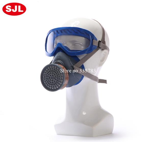 High quality protective mask multiple type filter chemical gas mask pesticide paint gas spray full face respirator gas mask sjl respirator gas mask pesticide paint industrial safety protective mask 4pcs filter filter cotton replace the use gas mask