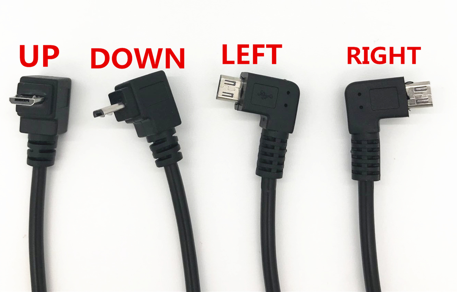 USB Micro 5P Female To 5P Male, Left/Right/Down/Up ,Angled Extension Cable Adapter