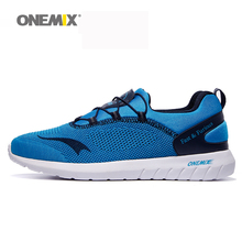 Onemix men's running shoes lightweight women sports sneaakers breathable mesh for outdoor sports walking jogging trekking shoes(China)
