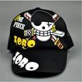 Black One piece Zoro Logo Cosplay Cap Going Merry charm Costume Baseball cap Adult Blank Snapback Cap Novelty Outdoor Summer Hat