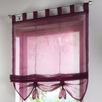1 pçs liftable tons romanos haste de bolso fita café roman cortina livebycare branco sheer varanda janela cortina dl001 & 3