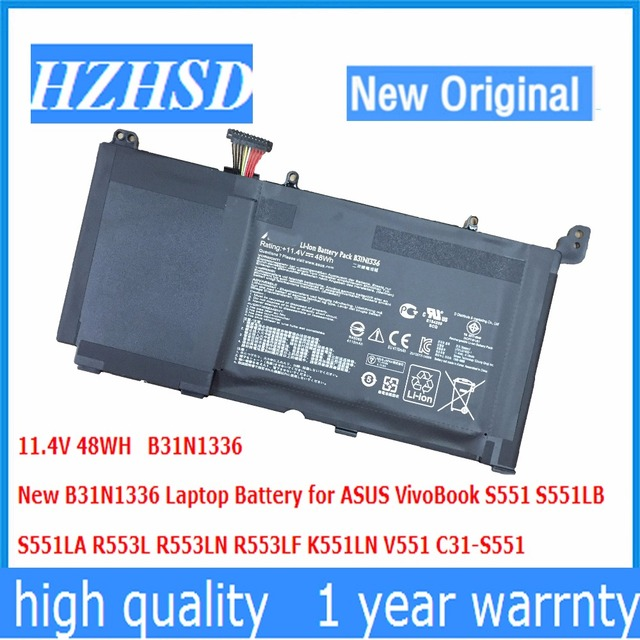 11.4 V 48WH B31N1336 Novo Original Bateria Do Portátil para ASUS VivoBook S551 S551LB S551LA R553L R553LN R553LF K551LN V551 C31-S551