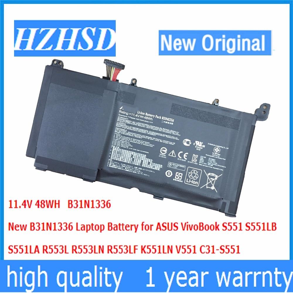 11.4V 48WH  New Original B31N1336 Laptop Battery For ASUS VivoBook S551 S551LB  S551LA R553L R553LN R553LF K551LN V551 C31-S551
