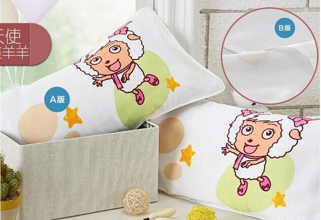 1 peça 100% mûrier soie double face enfants taie d'oreiller / 35 x