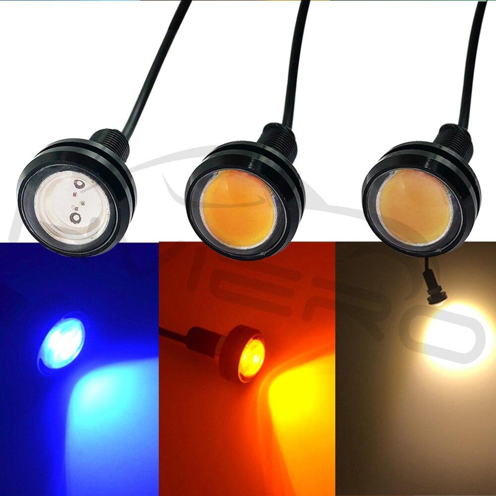 Hviero White Red 23mm Eagle Eye Light 9w dc 12v Led Daytime Running Drl Backup Car Aoto Motor Parking Signal Lamps Waterproof Fog Light