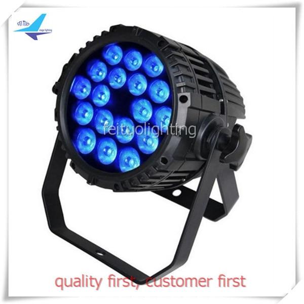 Free shipping 4 pieces China dj equipment led par stage lighting 18x18w rgbwa uv par led