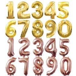 32 дюймов 0-9 большой гелиевый цифровой Воздушный баллон фольга детский день рождения игрушки Серебро Золото Розовый Вечерние дети