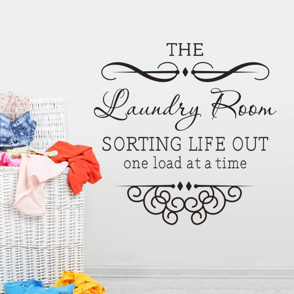 Online Get Cheap Laundry Room Decals Aliexpresscom Alibaba Group - Custom vinyl wall decals sayings for laundry room