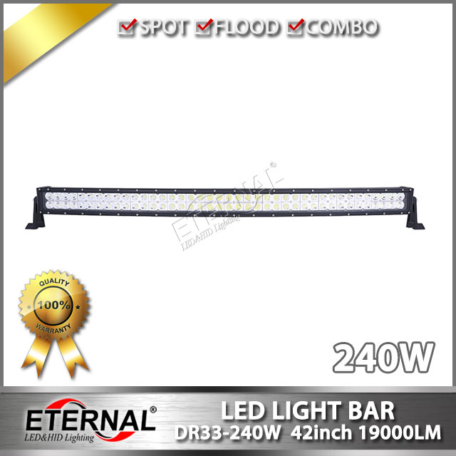 240W led light bar offroad driving headlight Tractor Boat OffRoad 4WD 4x4 Car Truck SUV ATV radius roof led lights