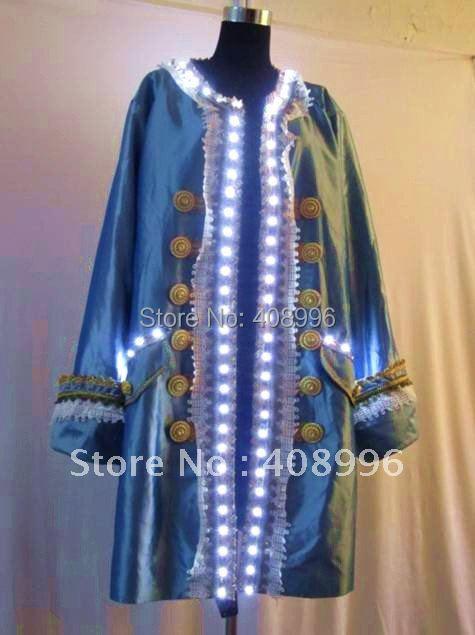 LED luminous Court dress for performance/Noble clothing/light up dress
