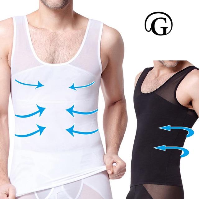 f5d9696a18 PRAYGER Vest Slimming Gynecomastia Men Mesh Body Shapers Chest Binder  Bodysuits men Tops Sleeveless Waist Trainer Corset