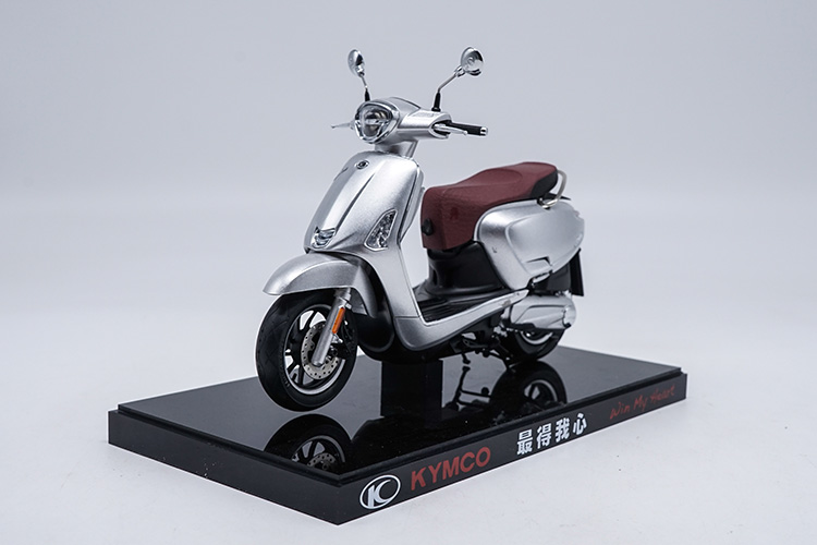 1:10 Diecast Model for KYMCO Any Like 150 Silver Motorbike Rare Alloy Toy Collection Mini Motorcycle