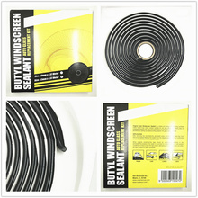 Black Snake Butyl Synthetic Rubber Glue Auto Headlight Headlamp Retrofit Speaker Windscreen Adhersive Sealant 9.5mm *4.57M