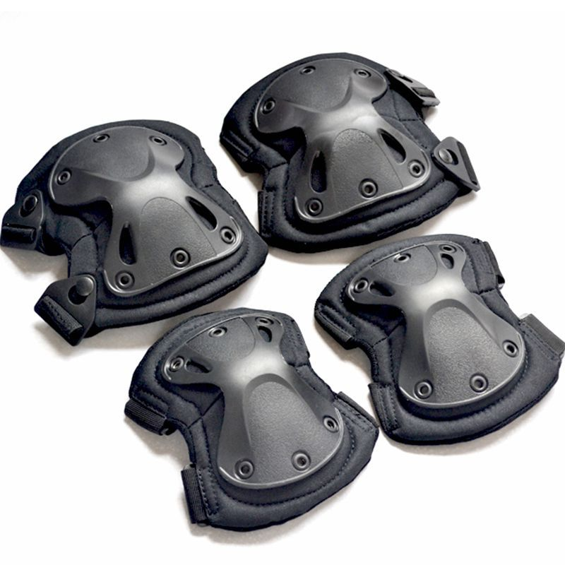 Army Tactical Paintball Airsoft Hunting Protection War Game Knee And Elbow Protector Knee Pads & Elbow Pads Set