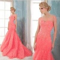 free shipping 2016 new fashion bride long luxury vestidos formal cap sleeve beaded bridal gown elegant sexy red wedding Dresses