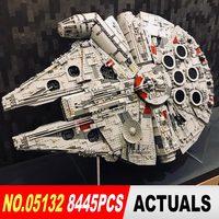 Лепин 05132 Звездный Разрушитель Сокол Тысячелетия LegoINGs 75192 кирпичи модель здания Конструкторы развивающие игрушечные лошадки войны