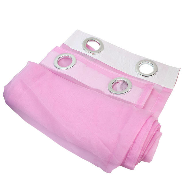 8 Hole Pink Trendy Door Window Sheer Voile Panel Curtain Home Living ...