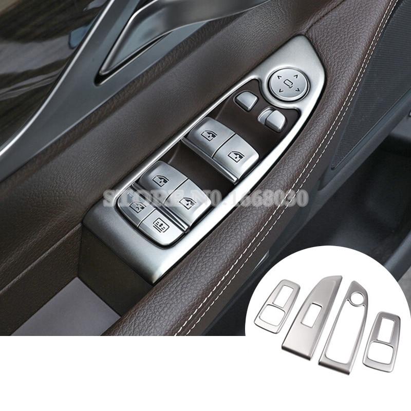 Puerta Interior puerta ventana interruptor de botón Trim para BMW serie 7 G11 G12 2016-2018 Nuevo Multi Color USB Iluminación led interior de coche Kit atmósfera luz neón lámparas