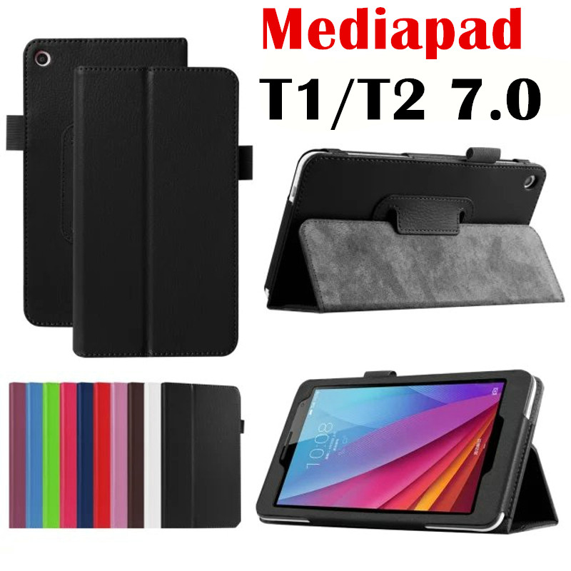 For Huawei Mediapad T2 7.0 BGO-DL09 BGO-L03 Tablet Case Litchi Stand PU Leather Case Flip Cover T1 Plus 7.0 T1-701U T1-701UA