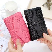 2017 Women Brand Designer Short Clutch Wallet Knitting Women Wallet Fashion Small Female Purse Short Coin