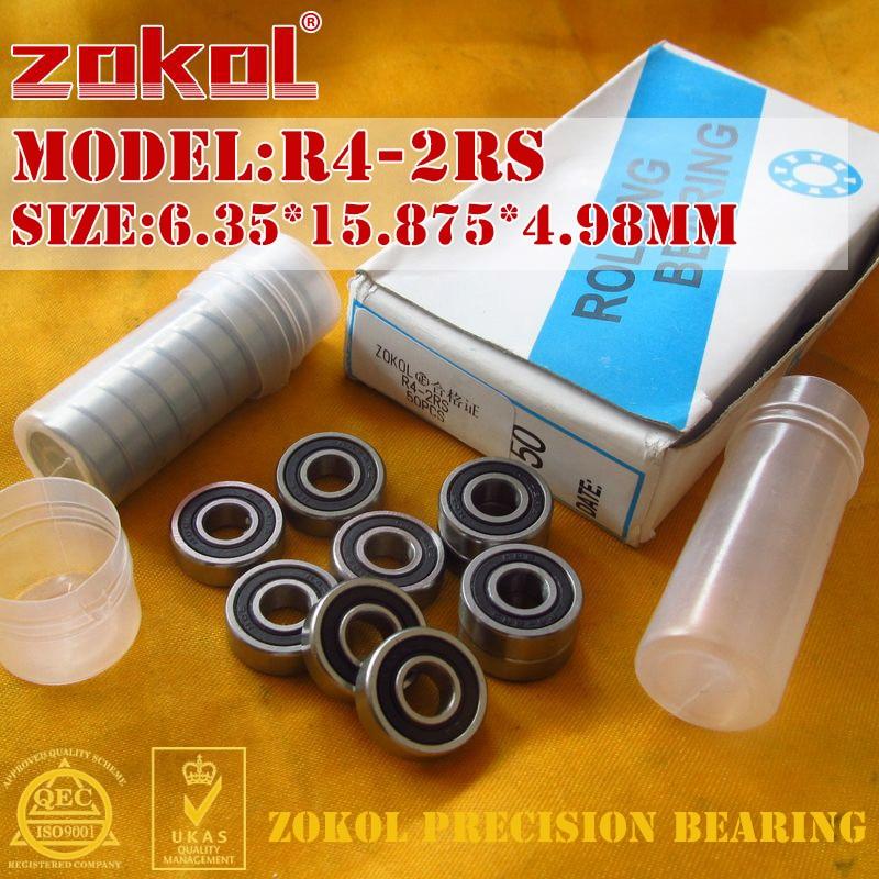 ZOKOL R4 2RS ZZ Bearing R4-2RS R4-ZZ Miniature  Deep Groove Ball Bearing 6.35*15.875*4.98mm