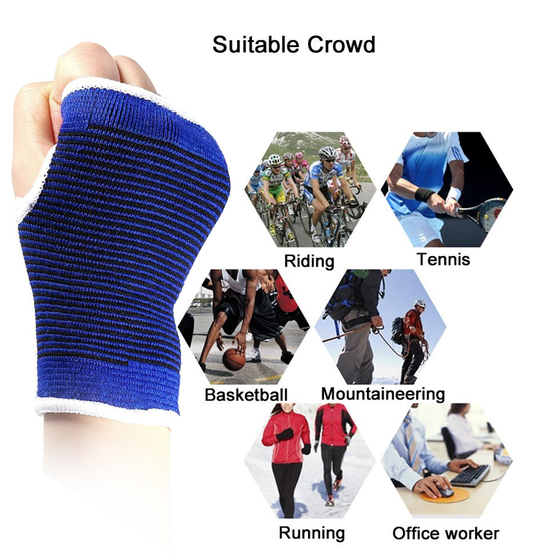 1Pair Wrist Hand Brace Gym Sports Support Wrist Gloves Hand Palm Gear Protector Carpal Tunnel Tendonitis Pain Relief 4