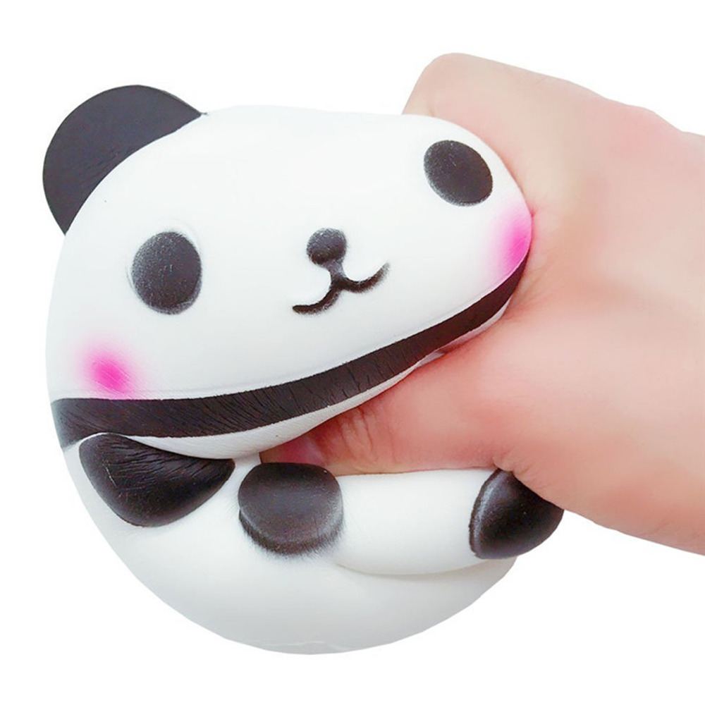 Advertising Automobiles 15cm Jumbo Kawaii Squishy Big Soft Panda Cute Bear Squeeze Squishi Slow Rising Toy Relieves Stress Anxiety Phone Strap