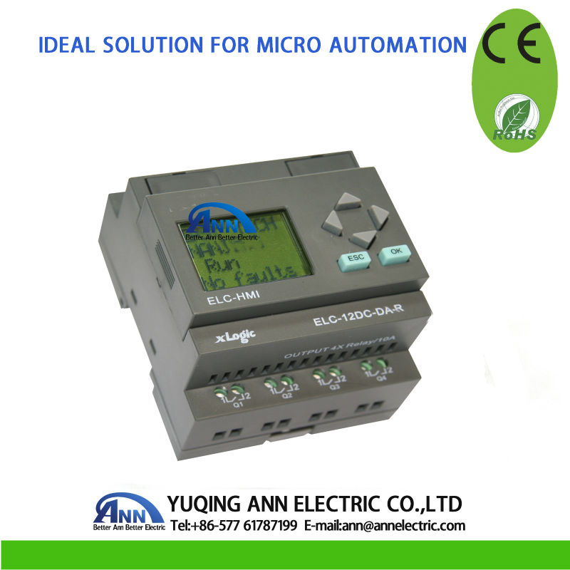 Best Price PLC ELC-12AC-R-HMI, with HMI elc динозавр ти рекс