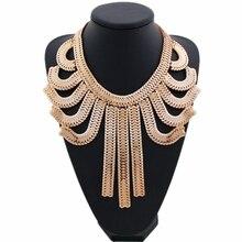 CirGen модные ожерелья-Чокеры для женщин, массивная золотая цепочка, Массивное колье с кисточкой, подвеска, воротники, ожерелья, бижутерия, ювелирное изделие, E08