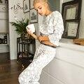 Artsu 2017 Otoño Mujeres 2-piezas conjunto Traje Pantalón de Chándal Informal de Manga Larga Impreso Señora Pantalones Trajes de Dos Piezas ASSU20000