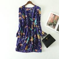 New Design Printed Free Shipping Silk Crepe De Chine   Fabric   For Silk Dress pure silk Shirt