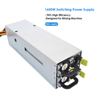 1600W Switching Power Supply 94 High Efficiency For Asic Antminer L3 Ethereum S9 S7 L3 Rig