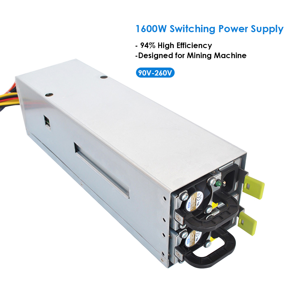 1600W Switching Power Supply 94% High Efficiency for asic antminer l3 Ethereum S9 S7 L3 Rig Mining Machine bitman bitcoin PC цена