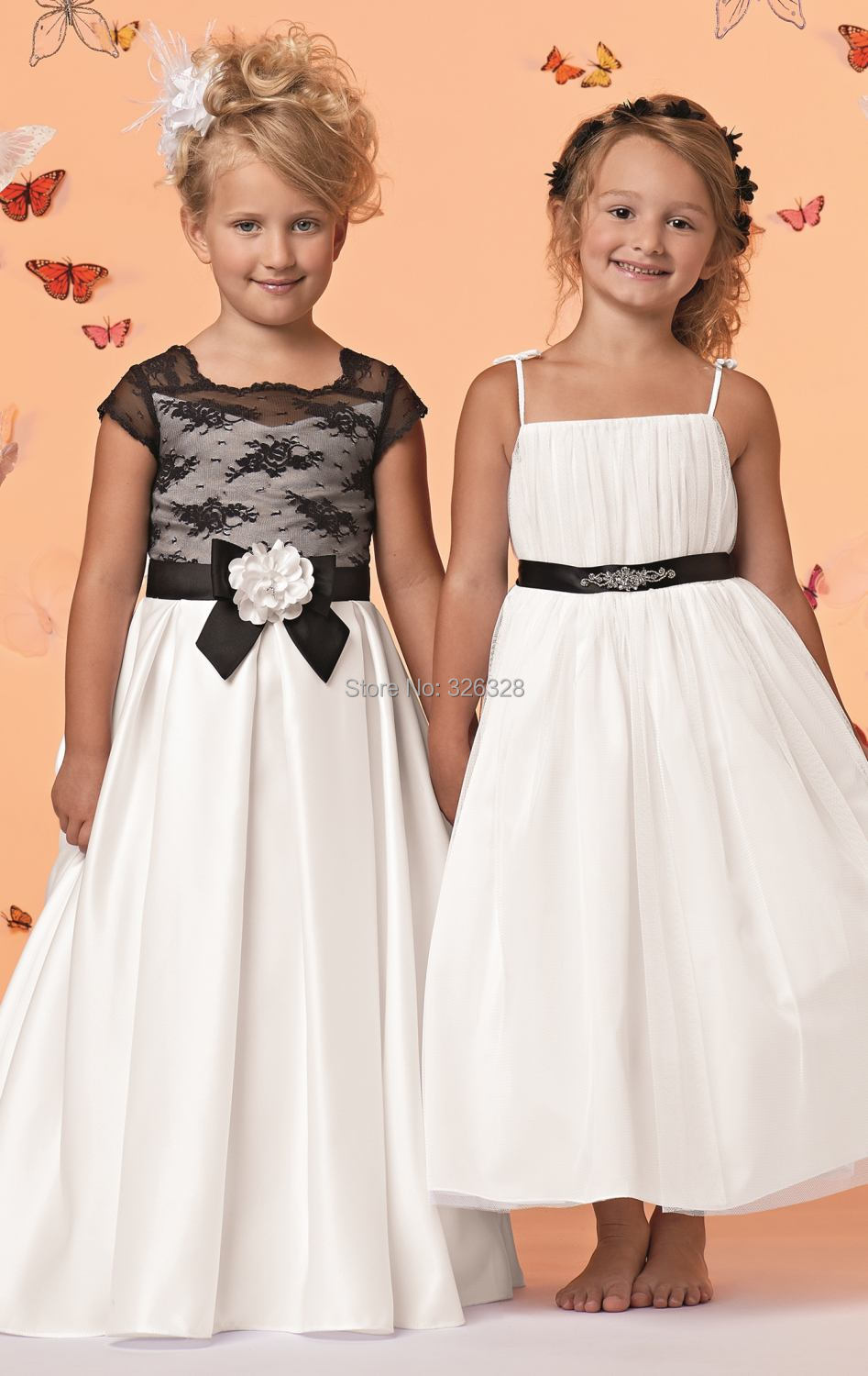 Compare Prices on Ivory Black Flower Girl Dresses- Online Shopping ...