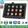 7 polegada mais novo HD navegação GPS do veículo 800 M / FM / 8 GB / 256 MB 2015 mapas para a rússia / bielorrússia / europa / eua + canadá carro / caminhão MTK navegador