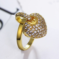 L Y 2014 New Luxury Beautiful Women Bride Wedding Ring The Highest Quality Zircon Lead And