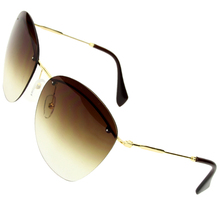 Sunglasses Women Outdoor Travel Unisex  Rimless Oval Sun Gla