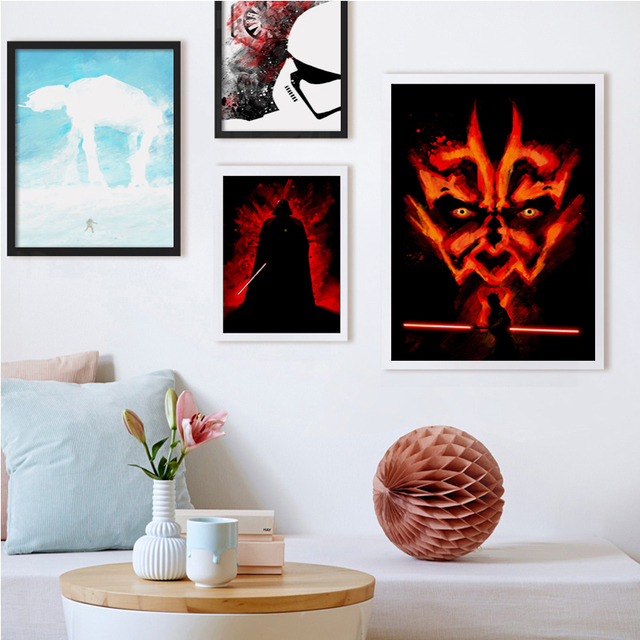 Modern Simple Splash Movie Star Wars Art Print Canvas Mural Wall Photo Living Room Bedroom Home Decoration Painting No Frames