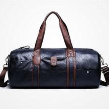 4065524375 Soft Leather Men Gym Bag Outdoor Basketball Football Match Training Luggage  Storage Handbag PU Travel Boarding