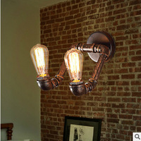 restoring ancient ways wall lamp corridor pipe wall lamp Double, wrought iron pipe wall lamp Porch corridor wall lamp